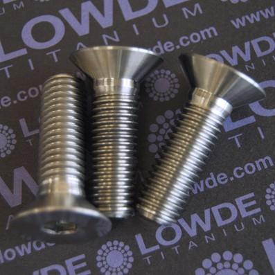 Avellanado DIN 7991 M12x40 mm. de titanio gr. 5 (6Al4V)