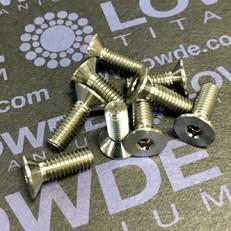 Avellanado DIN 7991 M4x12 mm. de titanio gr. 5 (6Al4V)