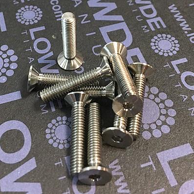 Avellanado DIN 7991 M4x20 mm. de titanio gr. 5 (6Al4V)