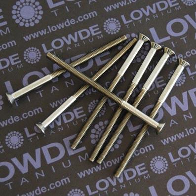 Avellanado DIN 7991 M4x70 mm. de titanio gr. 5 (6Al4V)