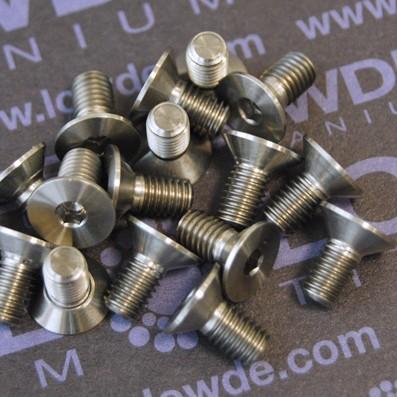 Avellanado DIN 7991 M5x10 mm. de titanio gr. 5 (6Al4V) - Avellanado DIN 7991 M5x10 mm. de titanio gr. 5 (6Al4V)