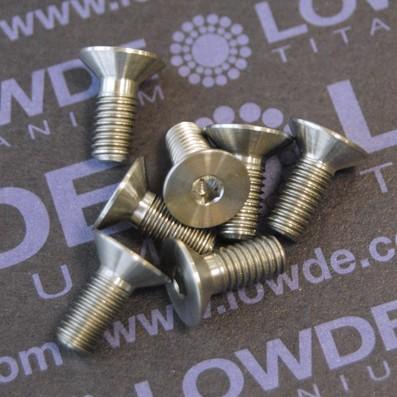 Avellanado DIN 7991 M5x12 mm. de titanio gr. 5 (6Al4V)
