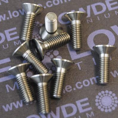 Avellanado DIN 7991 M5x15 mm. de titanio gr. 5 (6Al4V)