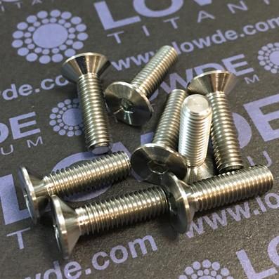 Avellanado DIN 7991 M5x18 mm. de titanio gr. 5 (6Al4V)