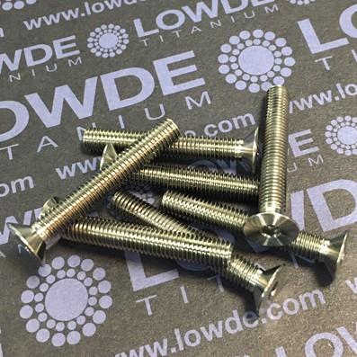 Avellanado DIN 7991 M5x35 mm. de titanio gr. 5 (6Al4V)