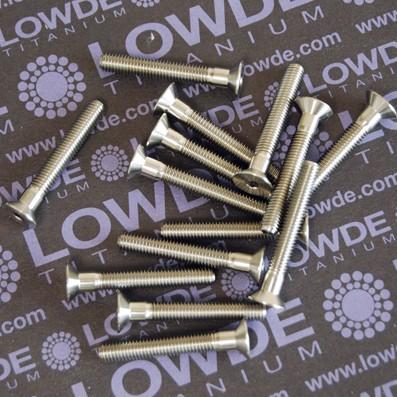 Avellanado DIN 7991 M5x35 mm. de titanio gr. 5 (6Al4V) - Avellanado DIN 7991 M5x35mm. de titanio gr. 5 (6Al4V)