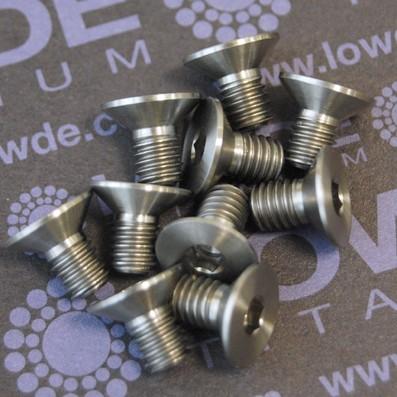 Avellanado DIN 7991 M6x10 mm. de titanio gr. 5 (6Al4V) - Avellanado DIN 7991 M6x10 mm. de titanio gr. 5 (6Al4V)