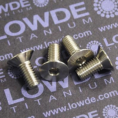Avellanado DIN 7991 M8x18 mm. de titanio gr. 5 (6Al4V)