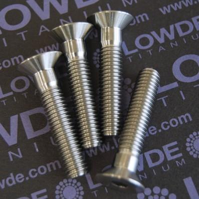 Avellanado DIN 7991 M8x40 mm. de titanio gr. 5 (6Al4V)