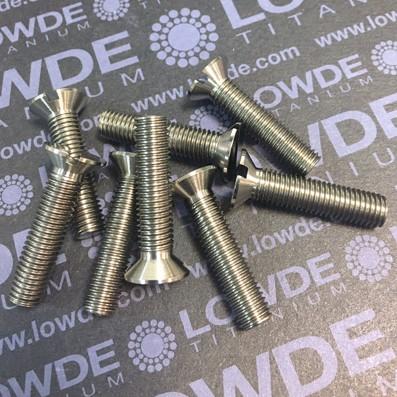 Tornillo DIN 963 M7x30 mm. de titanio gr. 5 (6Al-4V) - 1 Tornillo avellando DIN 963 M7x30 mm. de Titanio gr. 5