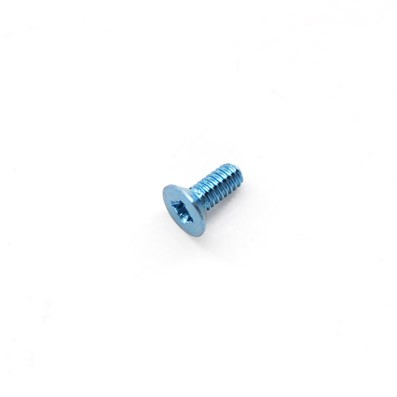 Avellanado DIN 965 M2x5 mm. de titanio gr. 5 (6Al4V). Anodizado azul