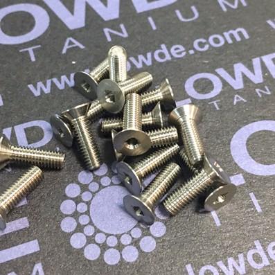 Avellanado DIN 965 M3x10 mm. de titanio gr. 5 (6Al4V)