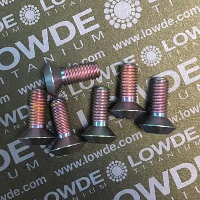 Avellanado reforzado M8x20 mm. de titanio gr. 5 (6Al4V) Violeta - Avellanado reforzado M8x20 mm. de titanio gr. 5 (6Al4V). Anodizado violeta.