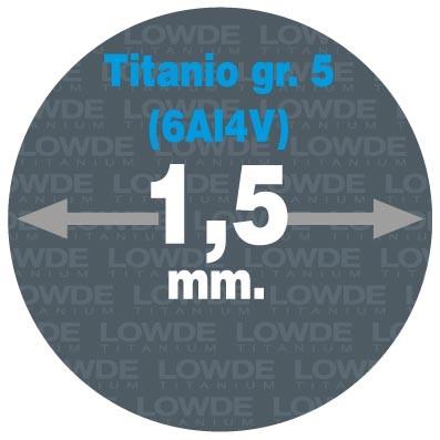 4 Varillas de 1 metro de longitud cada una AWS A5.16 de diámetro 1,5 mm. Titanio gr. 5 (6Al4V)