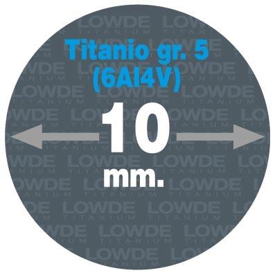 Varilla Ø 10 mm. x 2 metros de TITANIO gr. 5 (6Al4V) AMS4928.