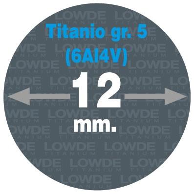 Varilla 1 metro de TITANIO gr. 5 (6Al4V) AMS4928 en diámetro 12 mm.