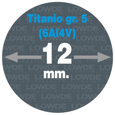 Varilla 1 metro de TITANIO gr. 5 (6Al4V) AMS4928 en diámetro 12 mm. - Varilla 1 metro de TITANIO gr. 5 (6Al4V) AMS4928 en diámetro 12 mm.