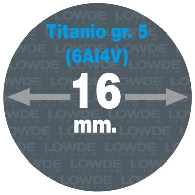 Varilla 1 metro de TITANIO gr. 5 (6Al4V) ASTM B348 en diámetro 16 mm. - Varilla 1 metro de TITANIO gr. 5 (6Al4V) ASTM B348 en diámetro 16 mm.