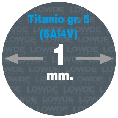 4 Varillas de 1 metro de longitud cada una AWS A5.16 de diámetro 1 mm. Titanio gr. 5 (6Al4V)