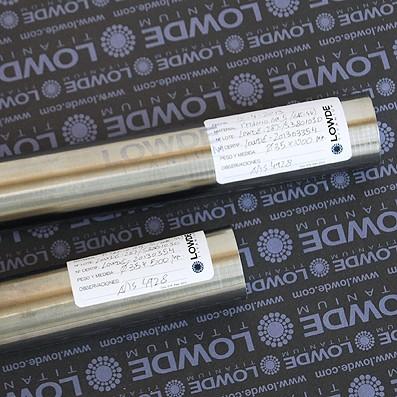 Barra de Titanio gr. 5 (6Al-4V) en diámetro 35 y longitud 1.000 mm. - Barra de Titanio gr. 5 (6Al-4V) ASTM B348 en diámetro 35 y longitud 1.000 mm.