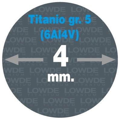 Varilla Ø 4 mm. x 1,5 metros de TITANIO gr. 5 (6Al4V) AMS4928. - Varilla Ø 4 x 1,5 metros de TITANIO gr. 5 (6Al4V) AMS4928.