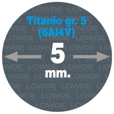 Varilla Ø 5 mm. x 1,5 metros de TITANIO gr. 5 (6Al4V) AMS4928. - Varilla Ø 5 mm. x 1,5 metros de TITANIO gr. 5 (6Al4V) AMS4928.