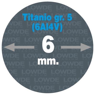 Varilla Ø 6 mm. x 1,5 metros de TITANIO gr. 5 (6Al4V) AMS4928. - Varilla Ø 6 mm. x 1,5 metros de TITANIO gr. 5 (6Al4V) AMS4928.