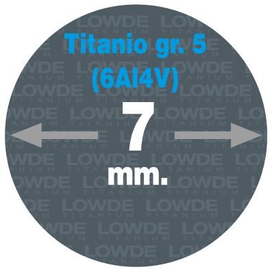 Varilla Ø 7 mm. x 2 metros de TITANIO gr. 5 (6Al4V) AMS4928. - Varilla Ø 7 mm. x 2 metros de TITANIO gr. 5 (6Al4V) AMS4928.