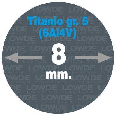 Varilla Ø 8 mm. x 1,5 metros de TITANIO gr. 5 (6Al4V) AMS4928. - Varilla Ø 8 mm. x 1,5 metros de TITANIO gr. 5 (6Al4V) AMS4928.