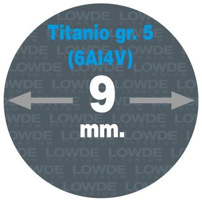 Varilla Ø 9 mm. x 1,5 metros de TITANIO gr. 5 (6Al4V) AMS4928. - Varilla Ø 9 mm. x 1,5 metros de TITANIO gr. 5 (6Al4V) AMS4928.