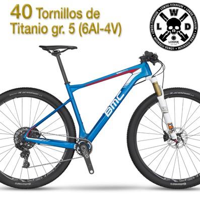 BMC Team Elite02. Kit de 40 tornillos. Titanio gr. 5 (6Al-4V)