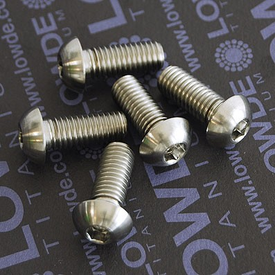 Boton ISO 7380 M8x20 mm. de titanio gr. 5 (6Al4V).