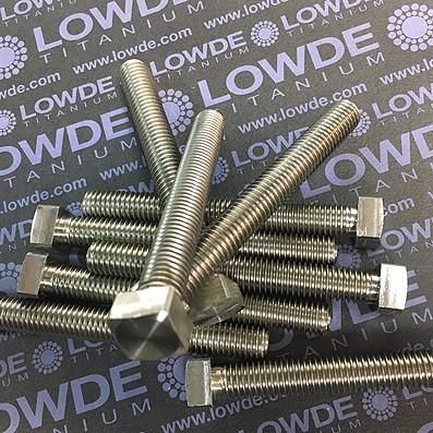 Tornillo de cabeza cuadrada M10x80 mm. de titanio gr. 2 (puro)