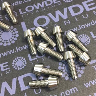 CÓNICO M5x12 titanio gr. 5 (6Al4V) - 1 Tornillo CÓNICO M5x12 mm. de titanio gr. 5 (6Al4V)