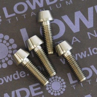 Tornillo CÓNICO M5x15 mm. de titanio grado 5 (6Al4V) - 1 Tornillo CÓNICO M5x15 mm. de titanio gr. 5 (6Al4V)