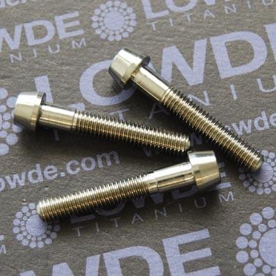 CÓNICO M5x30 titanio gr. 5 (6Al4V) - Tornillo CÓNICO M5x30 mm. de titanio gr. 5 (6Al4V)