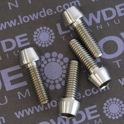 CÓNICO M6x18 titanio gr. 5 (6Al4V) - 1 Tornillo CÓNICO M6x18 mm. de titanio gr. 5 (6Al4V)