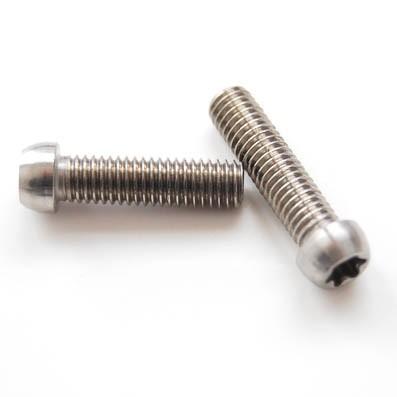 Boton M5x20 mm. de titanio gr. 5 (6Al4V). Cabeza muy pequeña