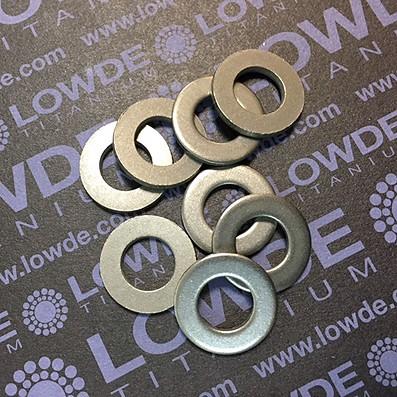 Arandela DIN 125 M10 de titanio gr. 2 (puro) - Arandela DIN 125 M10 de titanio gr. 2 (puro)