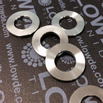 Arandela DIN 125 M10 titanio gr. 5 (6Al4V) - Arandela DIN 125 M10 titanio gr. 5 (6Al4V)