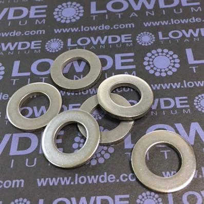Arandela DIN 125 M12 de titanio gr. 2 (puro) - Arandela DIN 125 M12 de titanio gr. 2 (puro)