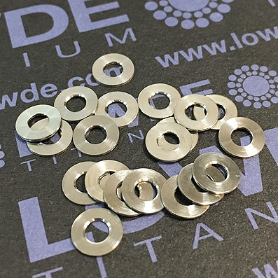 Arandela DIN 125 M3 titanio gr. 5 (6Al4V)