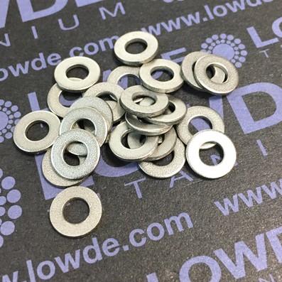 Arandela DIN 125 M4 de titanio gr. 2 (puro) - Arandela DIN 125 M4 de titanio gr. 2 (puro)