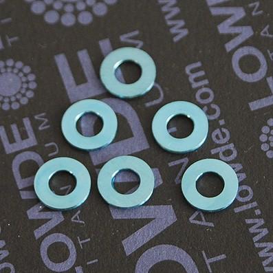 Arandela DIN 125 M4 titanio gr. 5 (6Al4V). Anodizada azul - Arandela DIN 125 M4 titanio gr. 5 (6Al4V). Anodizada azul
