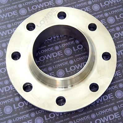 Brida DIN 2632PN10 de Ti gr. 2 ASTM B381 para tubo 114,3 mm.
