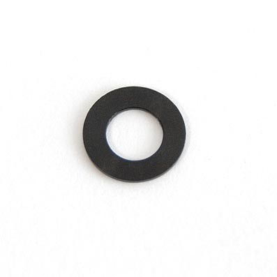 Arandela DIN 433 M4 aluminio 7075. Anodizada negra