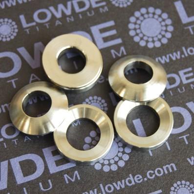 Arandelas esféricas DIN6319 M10 de titanio gr. 5 (6Al4V)