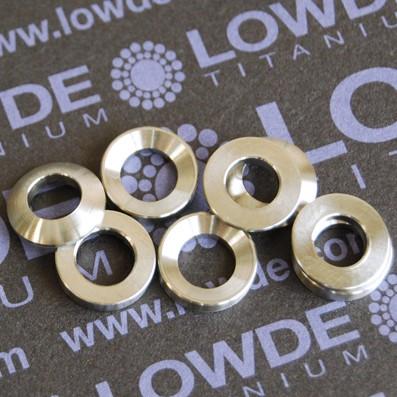 Juego arandelas esféricas DIN6319 M6 de titanio gr. 5 (6Al4V) - Arandelas esféricas DIN6319 M6 de titanio gr. 5 (6Al4V). En stock también M8, M10, M12