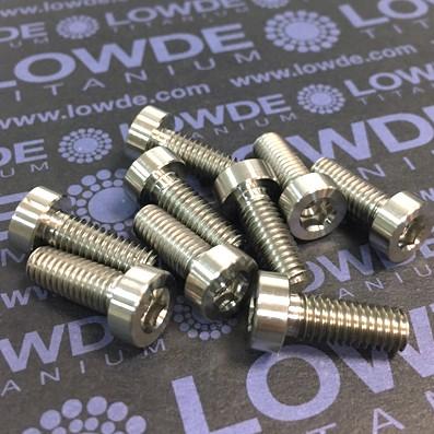 DIN 6912 M6x16 titanio gr. 5 (6Al4V) - Tornillo DIN 6912 M6x16 mm. de titanio gr. 5 (6Al4V)