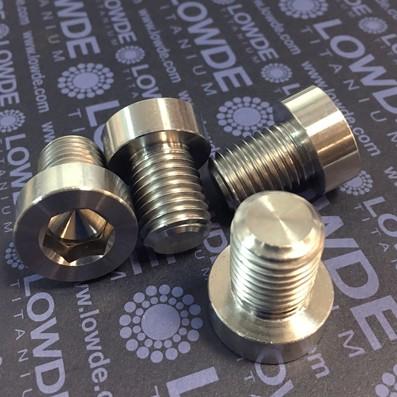 Tornillo DIN 7984 M16x2,00x20 titanio grado 2 - Tornillo DIN 7984 M16x2,00x20 titanio grado 2